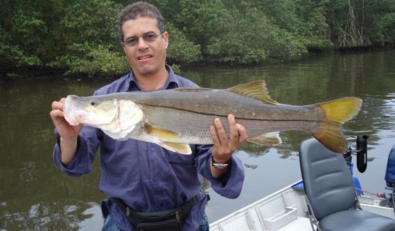 Pescaria de Robalos no rio Itanhaém - Pesca com Bill